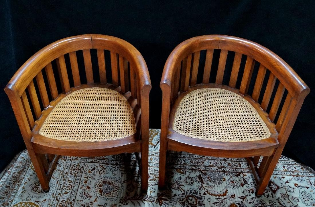 PR. ARTS & CRAFTS CANED CHAIRS - 2