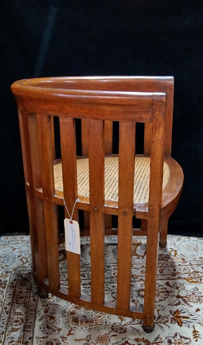 PR. ARTS & CRAFTS CANED CHAIRS - 3
