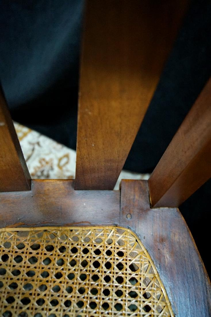 PR. ARTS & CRAFTS CANED CHAIRS - 5