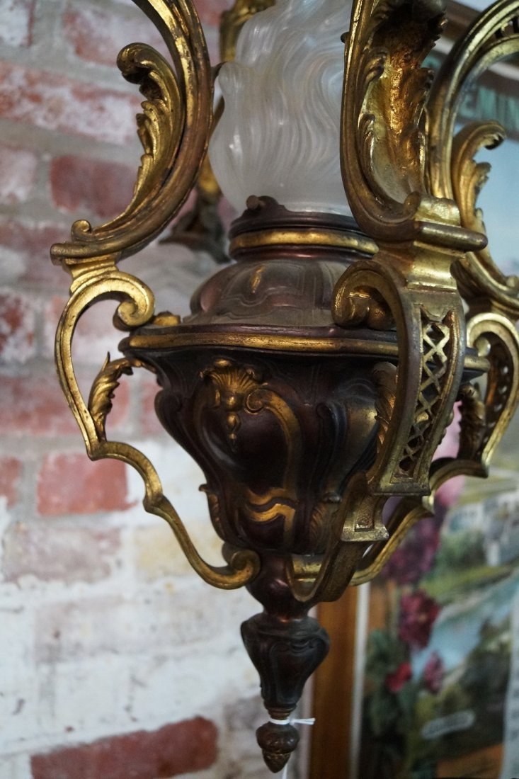 BRONZE 4 LIGHT CHANDELIER - 4