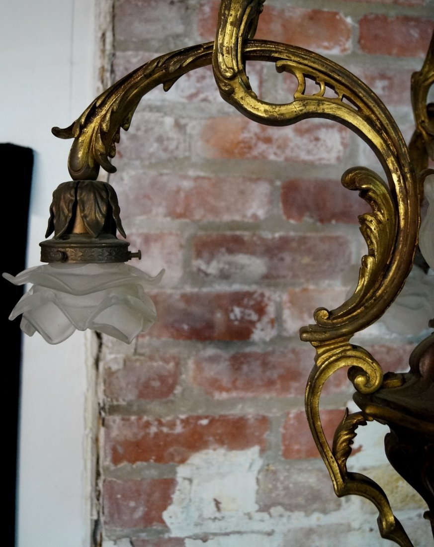 BRONZE 4 LIGHT CHANDELIER - 6