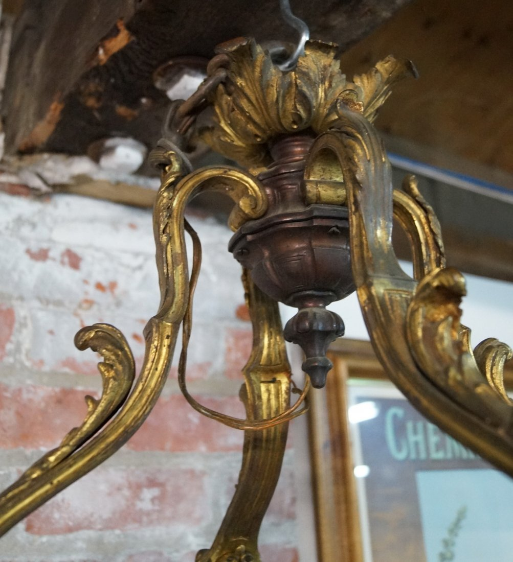 BRONZE 4 LIGHT CHANDELIER - 7