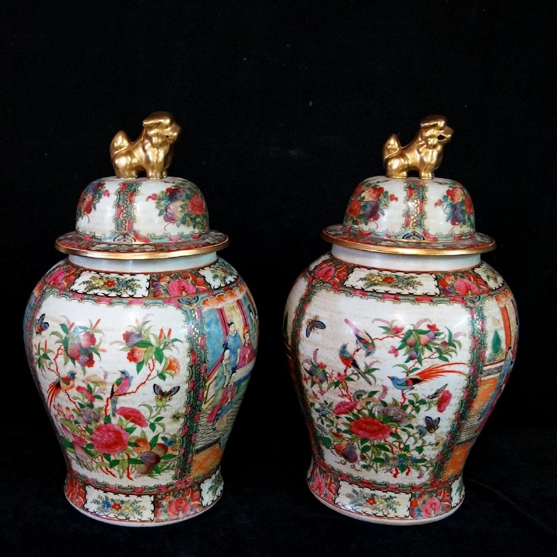 PR. ORIENTAL PORCELAIN COVERED JARS - 3