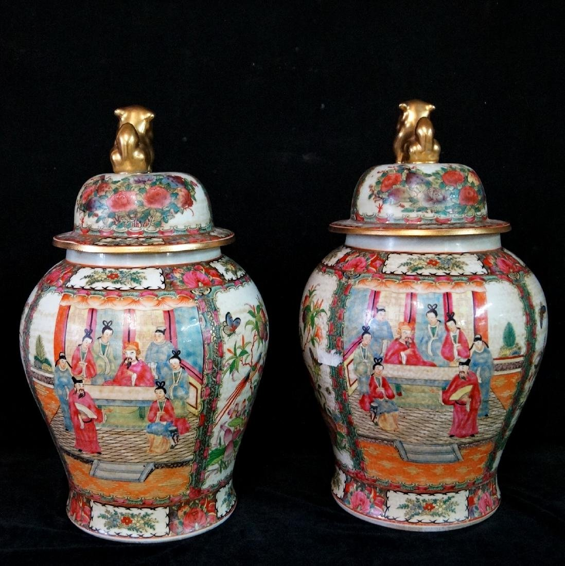 PR. ORIENTAL PORCELAIN COVERED JARS - 4
