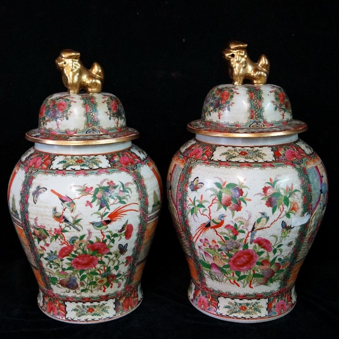 PR. ORIENTAL PORCELAIN COVERED JARS - 5