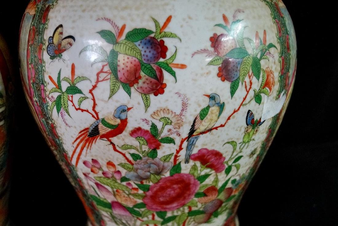 PR. ORIENTAL PORCELAIN COVERED JARS - 6