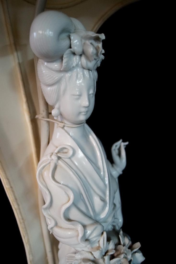 BLANC DE CHINE QUAN YIN LAMP - 3