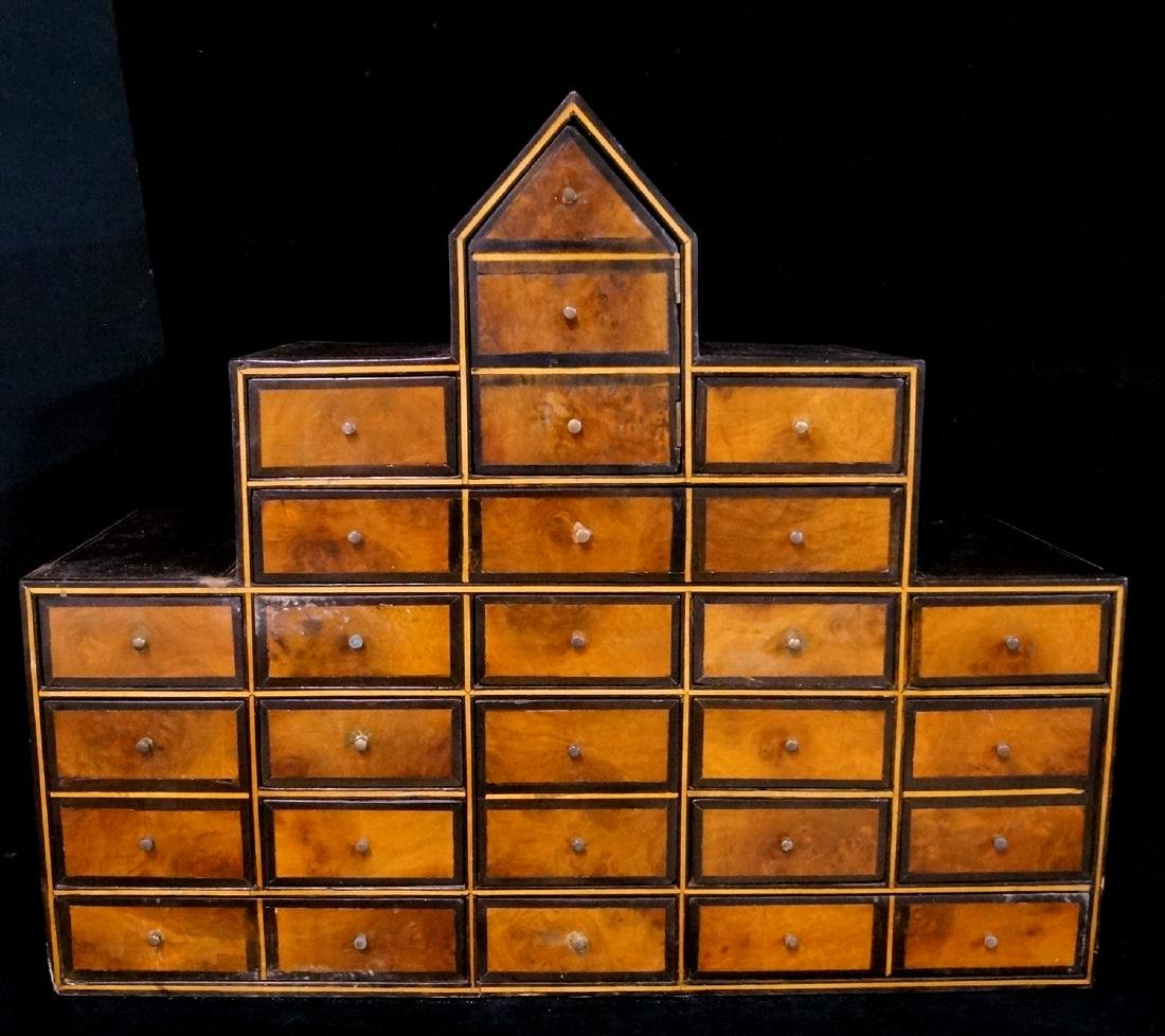 LATE 18TH C. ENGLISH INLAID APOTHECARY CHEST