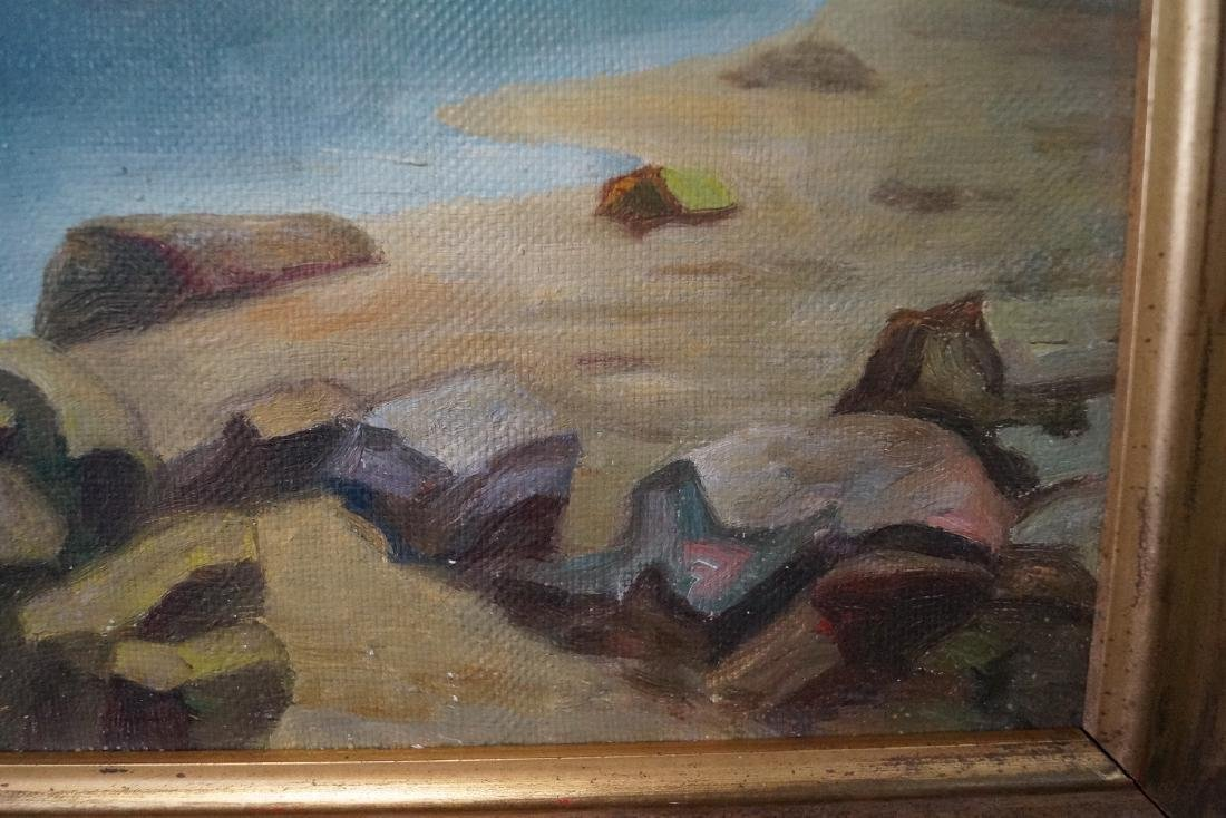 OIL ON CANVAS SGN. PASTERNAK COASTAL LANDSCAPE - 3