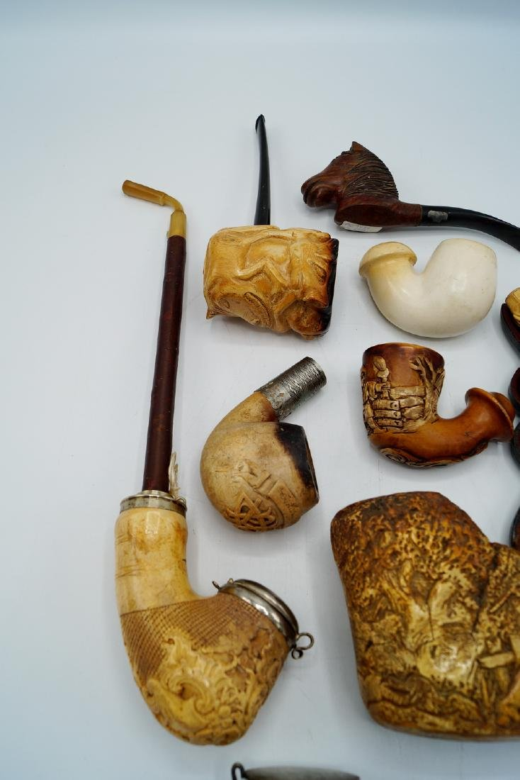ASSORTED LOT OF MEERSCHAUM PIPES - 5