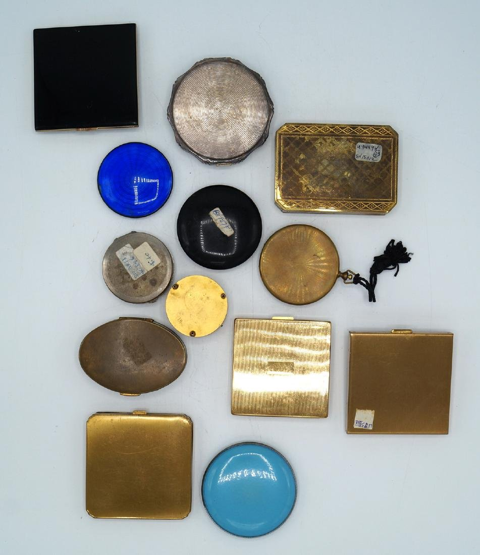 TRAY LOT 13 VINTAGE COMPACTS - 5