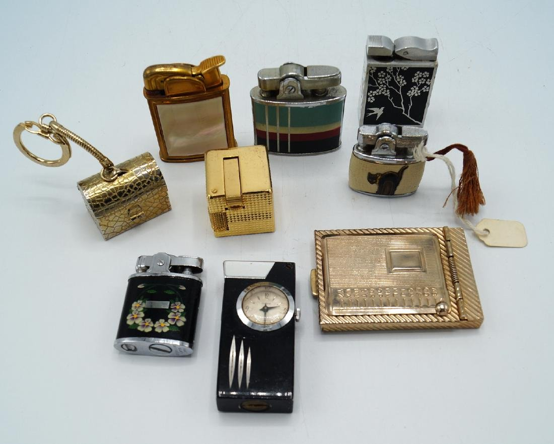 TRAY LOT 7 VINTAGE LIGHTERS