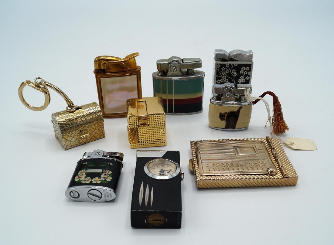 TRAY LOT 7 VINTAGE LIGHTERS - 2