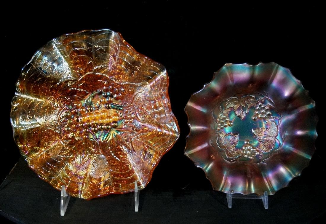 LARGE LOT CARNIVAL GLASS - 2