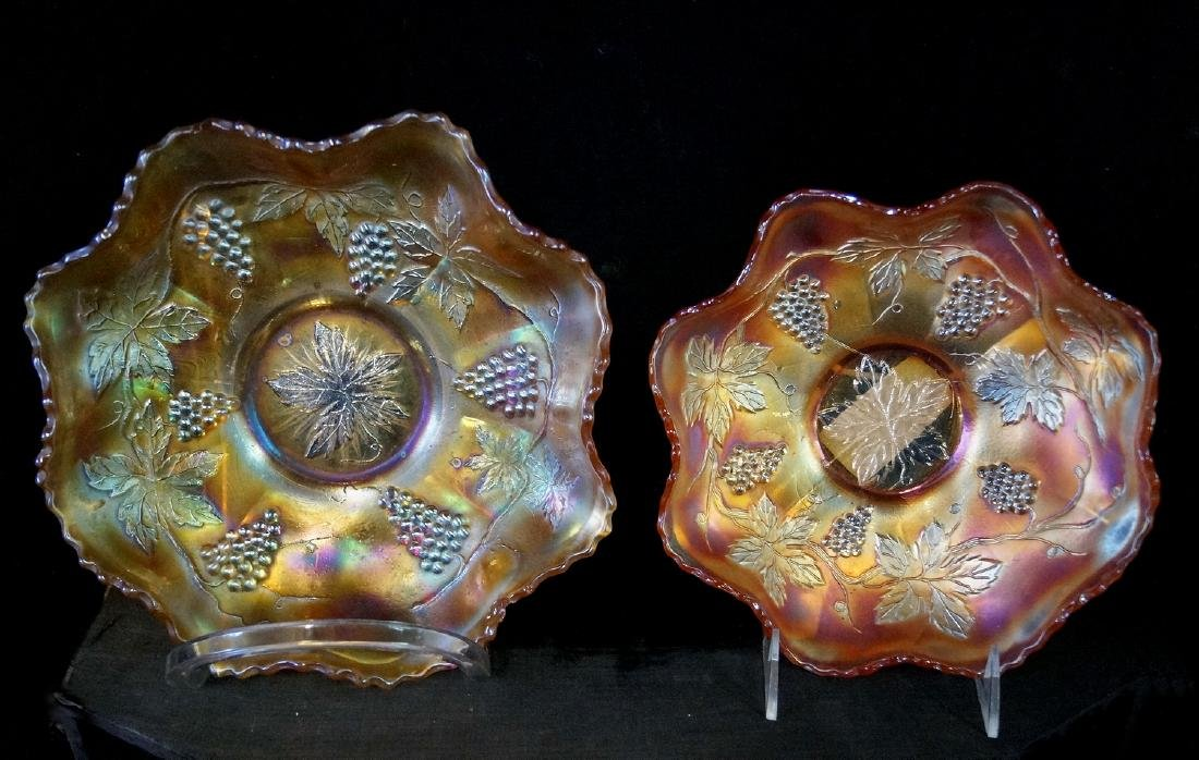 LARGE LOT CARNIVAL GLASS - 3
