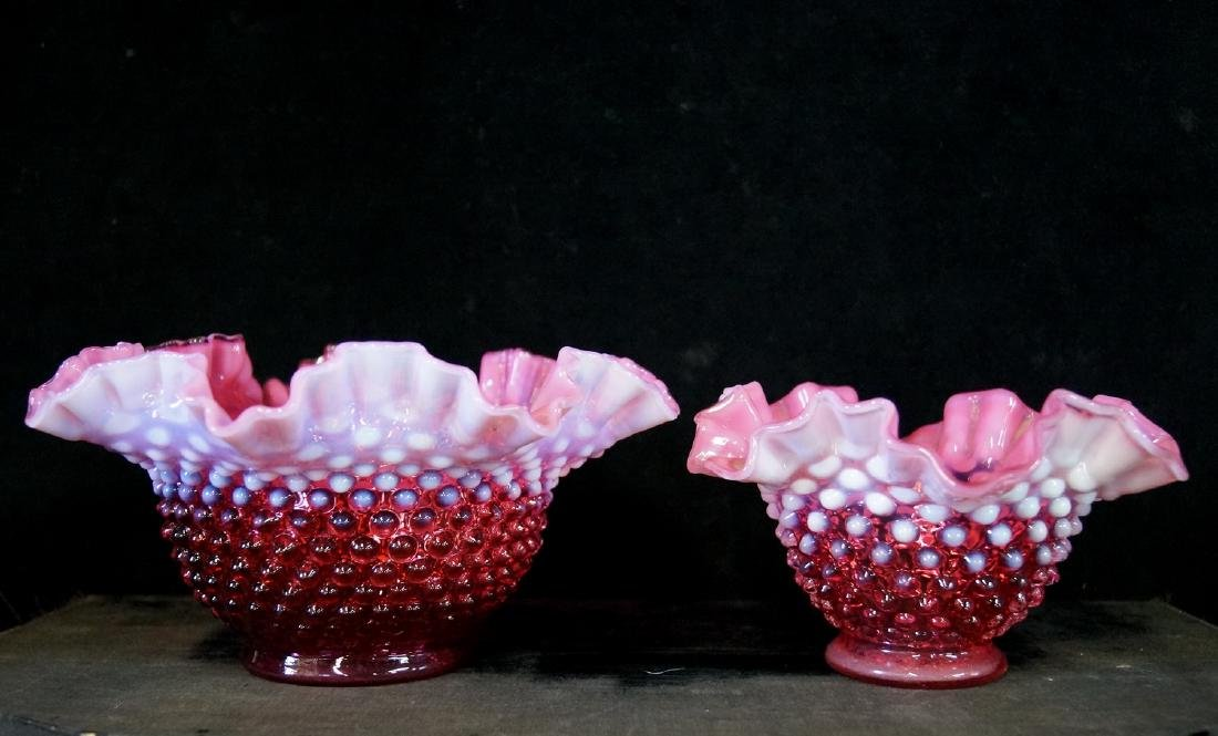 LOT CRANBERRY FENTON GLASS - 3