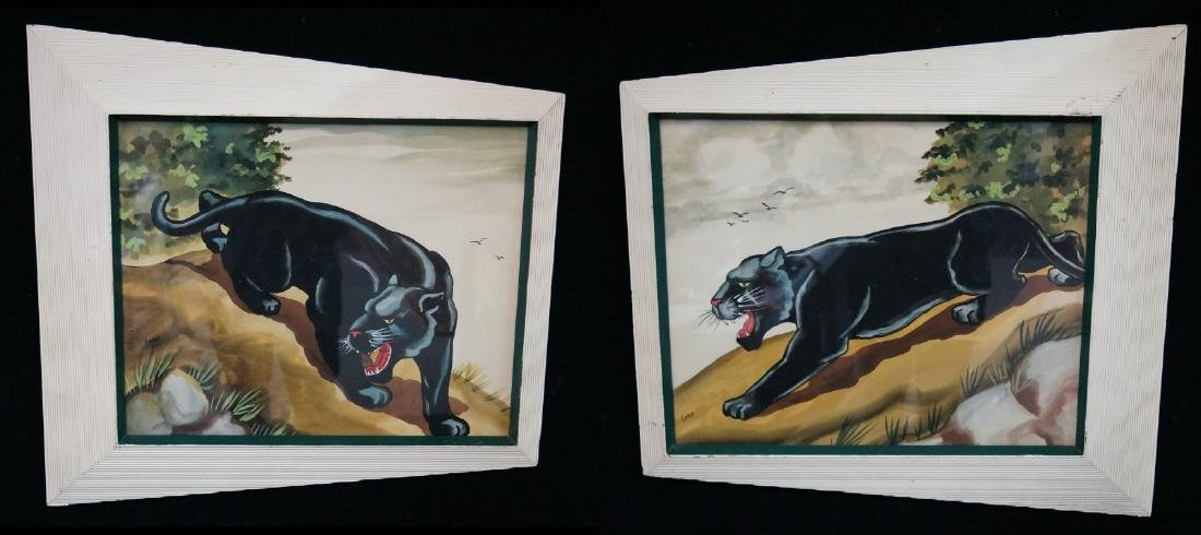 """PR. CARLO SGN. WORKS ON PAPER """"PANTHERS"""""""