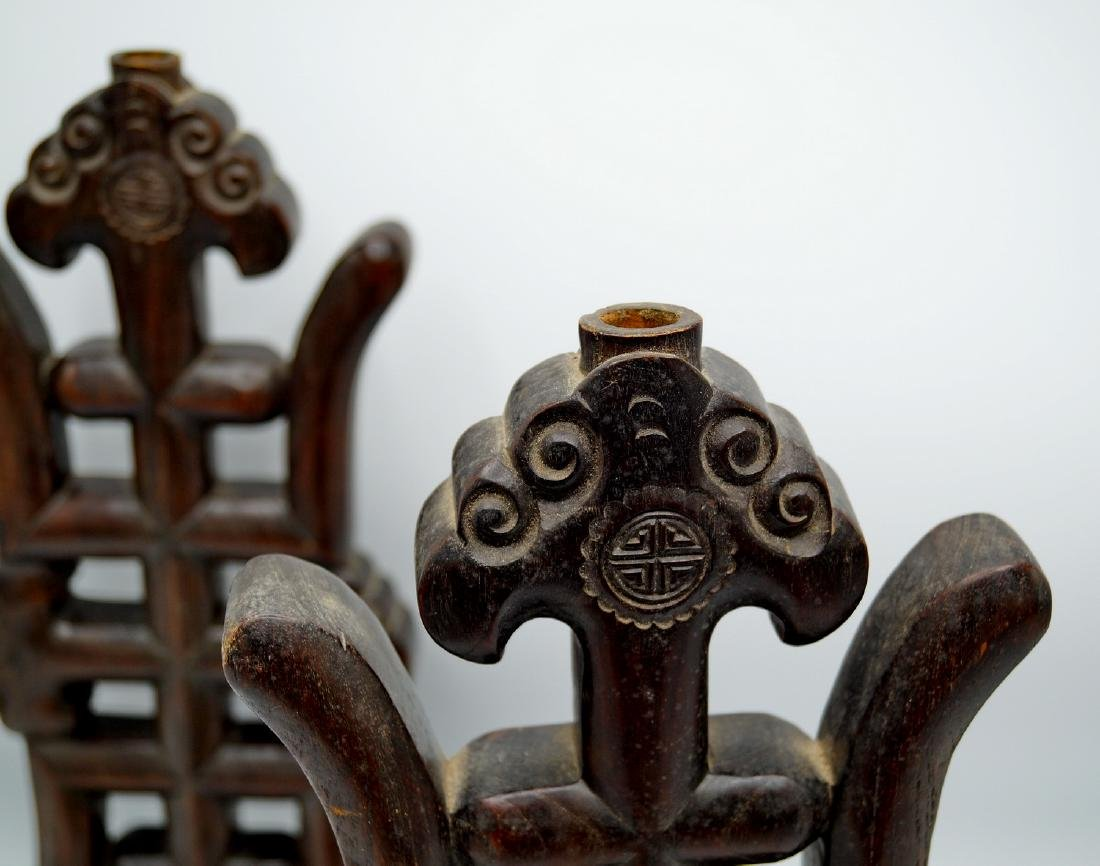 PR. CARVED WOOD ASIAN DECORATIONS / SUPPORTS - 5
