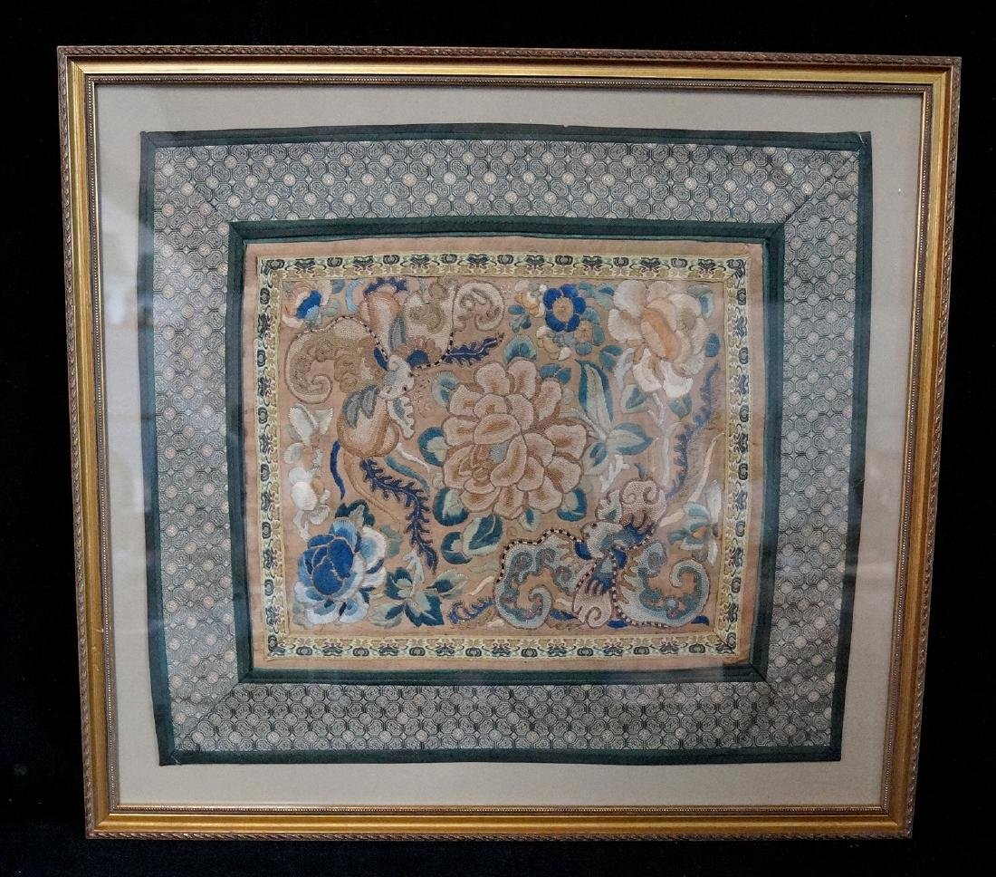 GROUP 3 ASIAN EMBROIDERIES W/ GILT FRAMES - 2