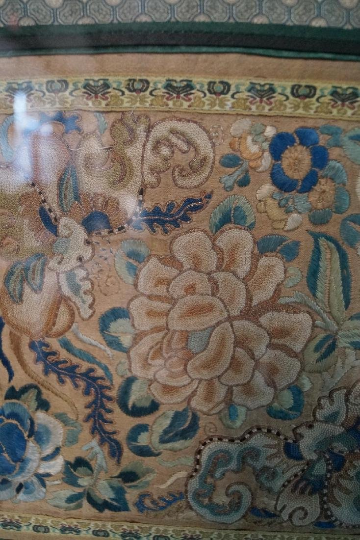 GROUP 3 ASIAN EMBROIDERIES W/ GILT FRAMES - 3