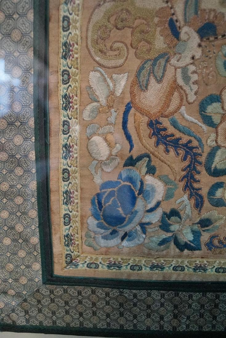 GROUP 3 ASIAN EMBROIDERIES W/ GILT FRAMES - 4