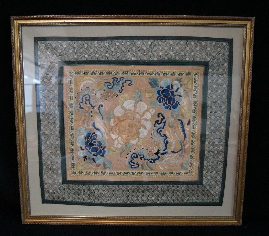 GROUP 3 ASIAN EMBROIDERIES W/ GILT FRAMES - 5