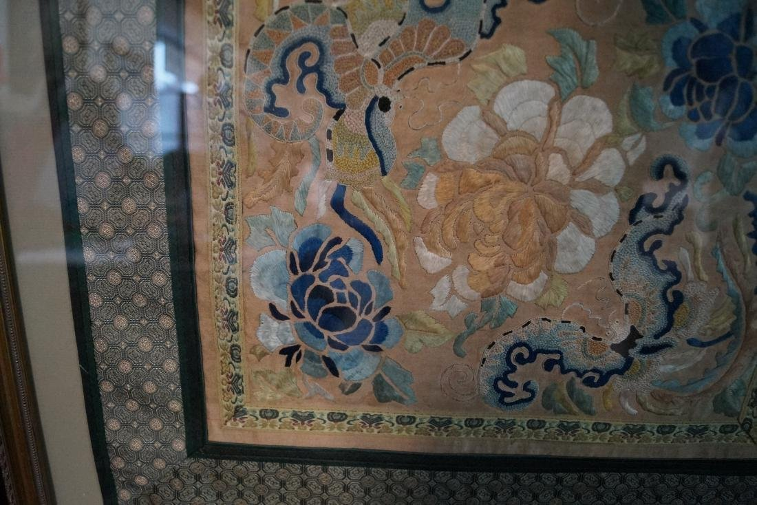 GROUP 3 ASIAN EMBROIDERIES W/ GILT FRAMES - 6
