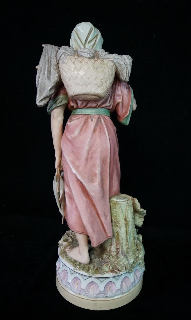 "ROYAL DUX FIGURE ""WOMAN WITH FISH"" - 7"
