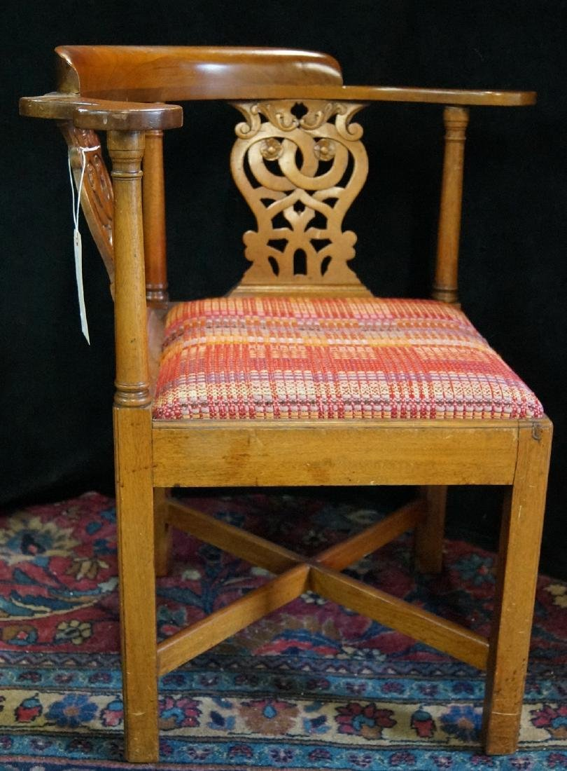 19TH C. MAHOGANY CORNER CHAIR - 4