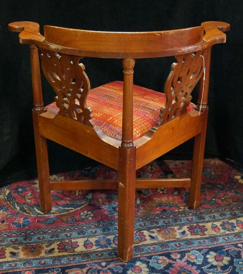 19TH C. MAHOGANY CORNER CHAIR - 6