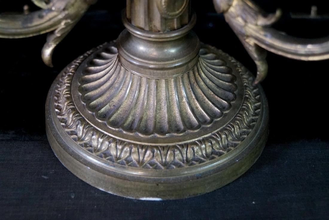 BRONZE BOUILLOTTE LAMP W/TOLE SHADE - 3