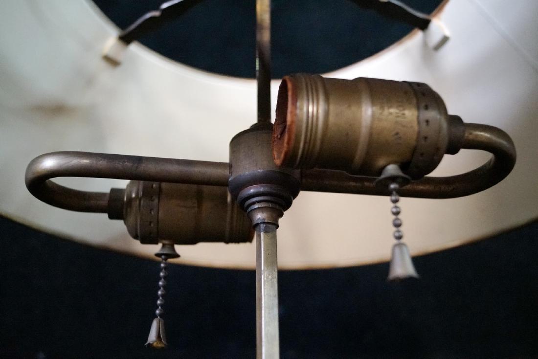 BRONZE BOUILLOTTE LAMP W/TOLE SHADE - 5
