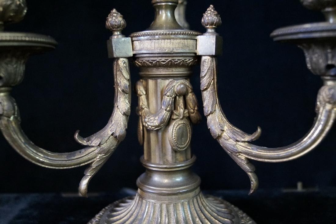 BRONZE BOUILLOTTE LAMP W/TOLE SHADE - 6