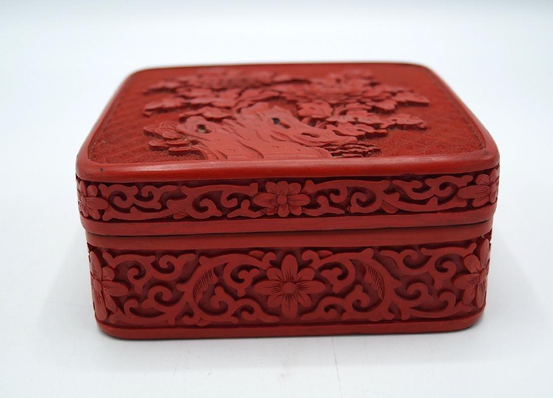 FAUX CINNABAR BOX - 2