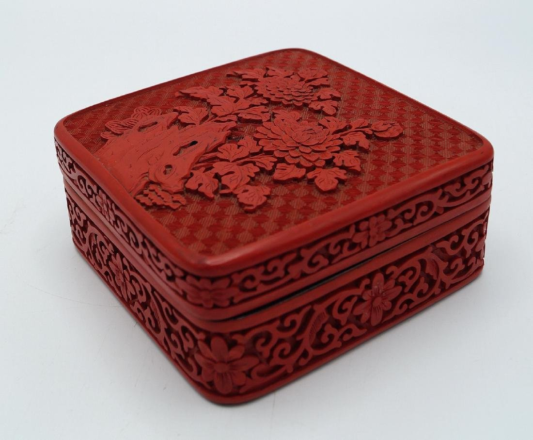 FAUX CINNABAR BOX - 3