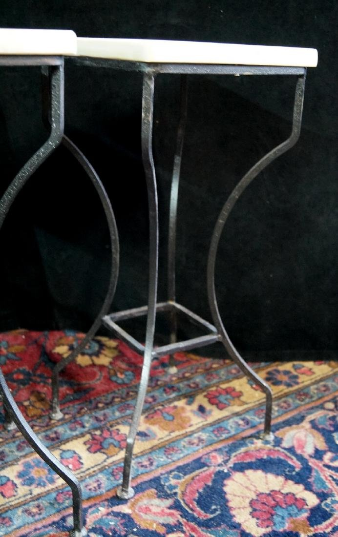 PR. WROUGHT IRON MARBLE TOP STANDS - 4