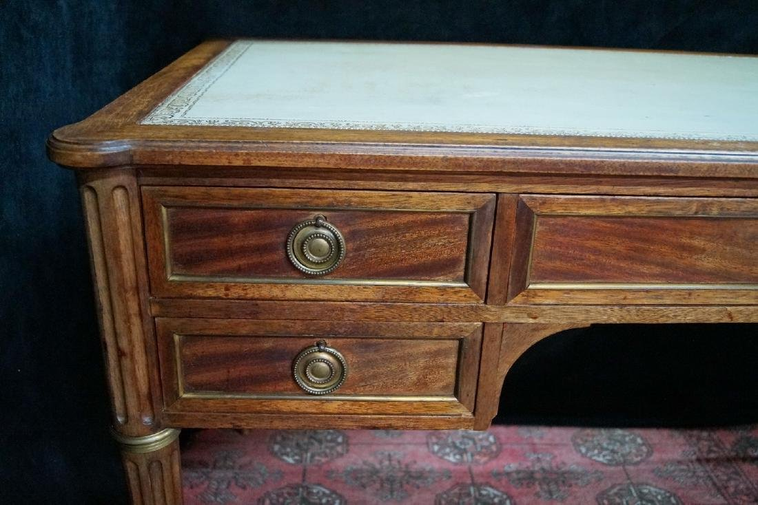 """LOUIS XVI STYLE LEATHER TOP FRUITWOOD DESK 30""""H X 50""""W - 2"""