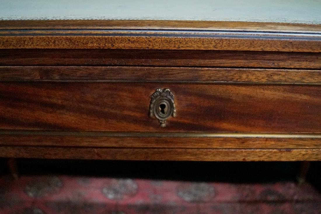 """LOUIS XVI STYLE LEATHER TOP FRUITWOOD DESK 30""""H X 50""""W - 3"""