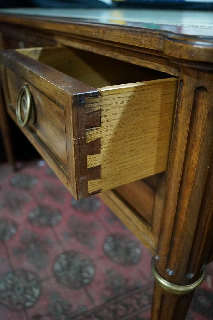 """LOUIS XVI STYLE LEATHER TOP FRUITWOOD DESK 30""""H X 50""""W - 4"""