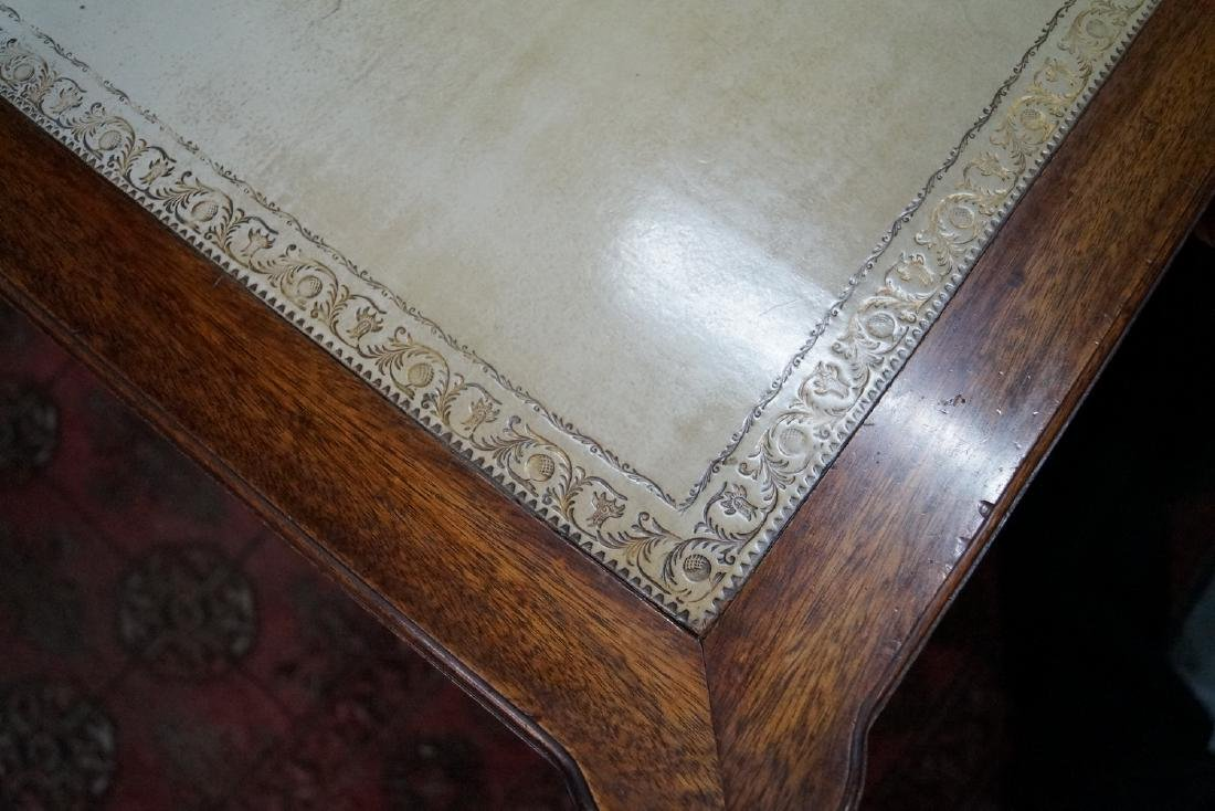 """LOUIS XVI STYLE LEATHER TOP FRUITWOOD DESK 30""""H X 50""""W - 5"""