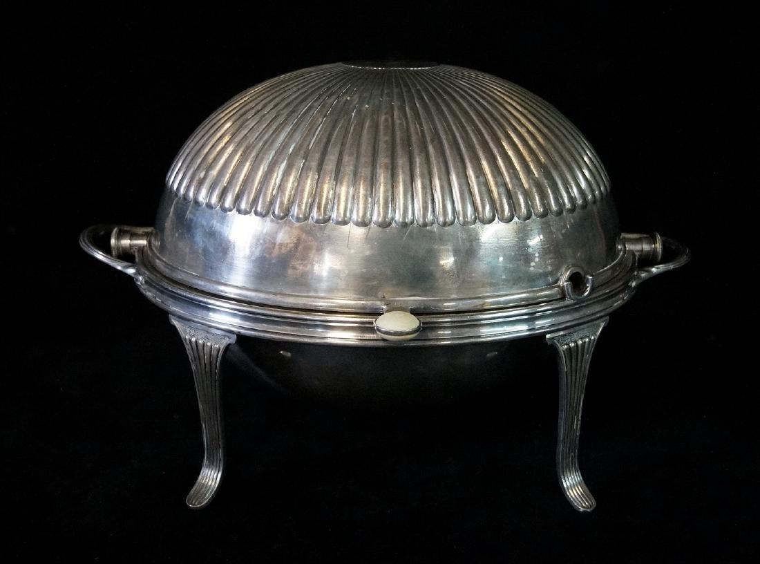 SILVERPLATE (MKD. EPNS) BACON SERVER  W/INSERT