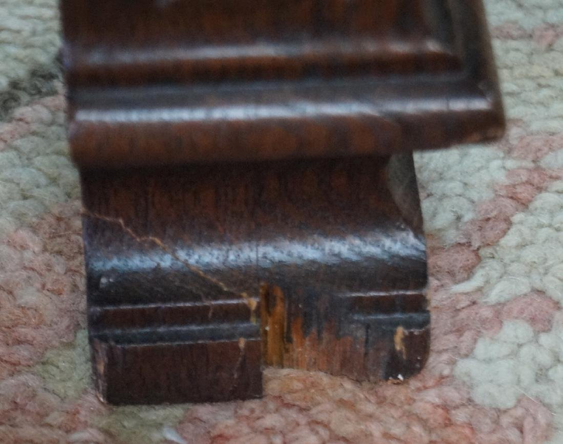 FIGURAL CARVED WOOD MARBLE TOP LOW TABLE - 6