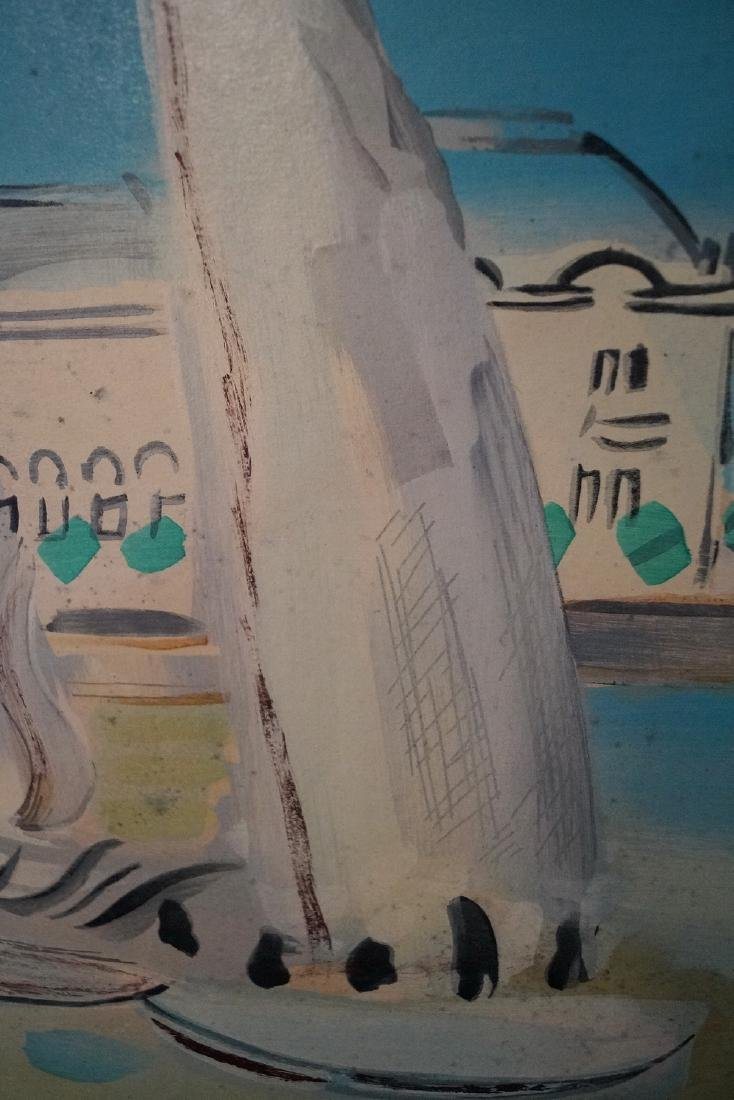 "RAOUL DUFY SGN. LITHOGRAPH ""SAILBOATS"" 1938 - 5"