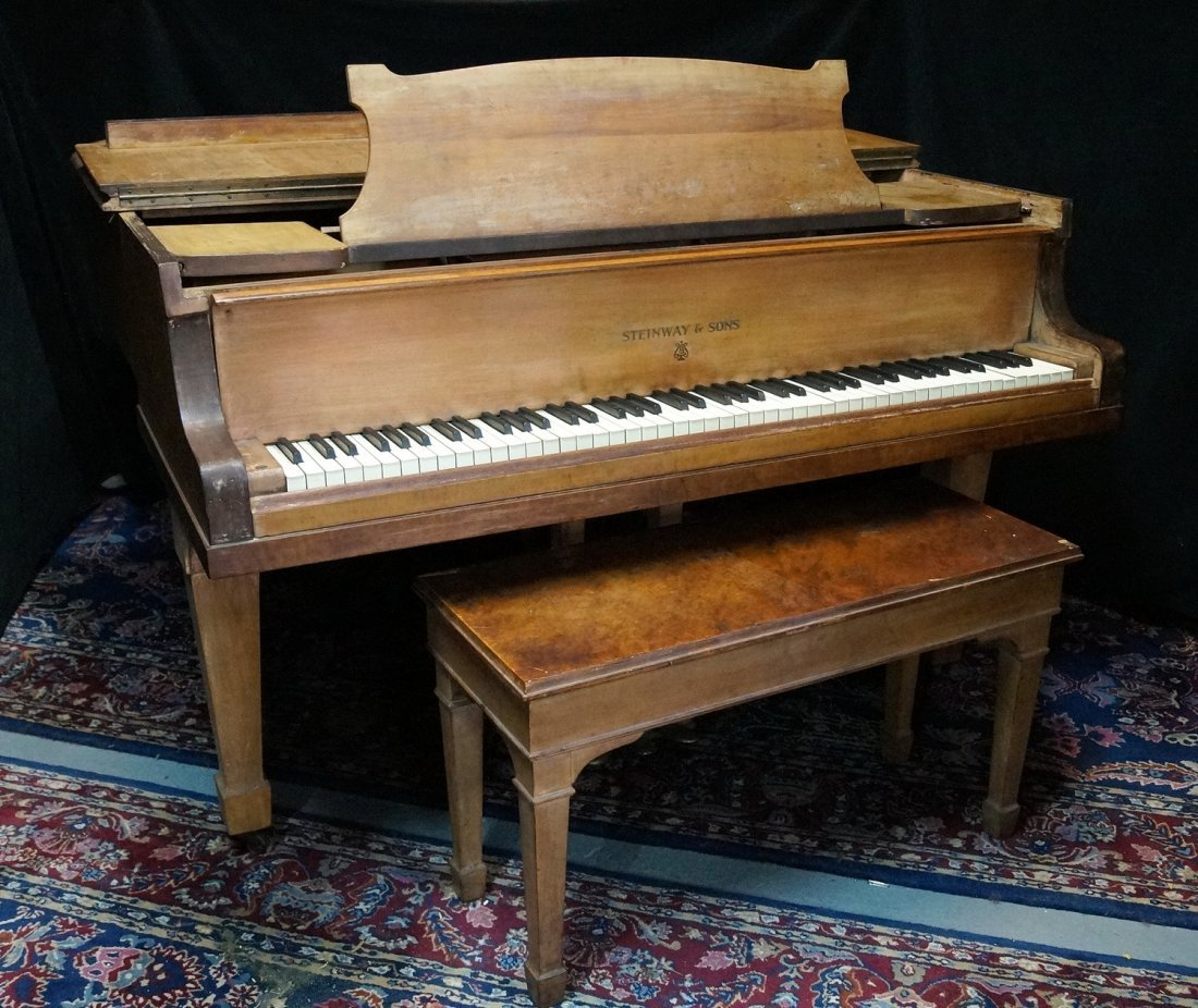 STEINWAY & SONS GRAND PIANO MODEL M - 2