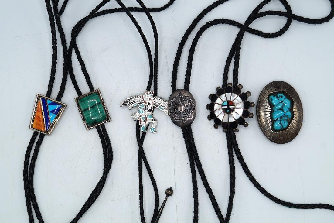 LOT BOLO TIES SOME STERLING - 2