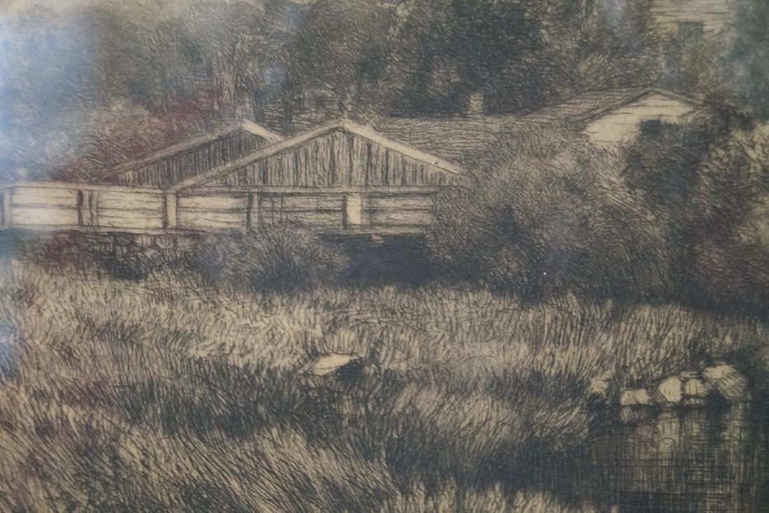 "A.F. BELLOWS ETCHING ""PASTORAL LANDSCAPE"" - 4"