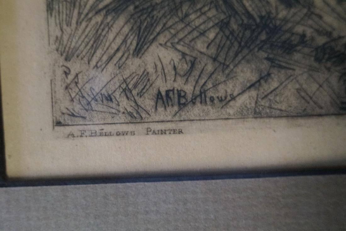 "A.F. BELLOWS ETCHING ""PASTORAL LANDSCAPE"" - 5"