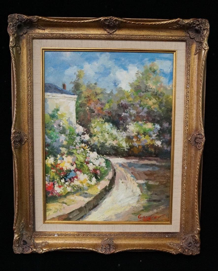 GARDNER SGN. OIL ON CANVAS IMPRESSIONIST LANDSCAPE