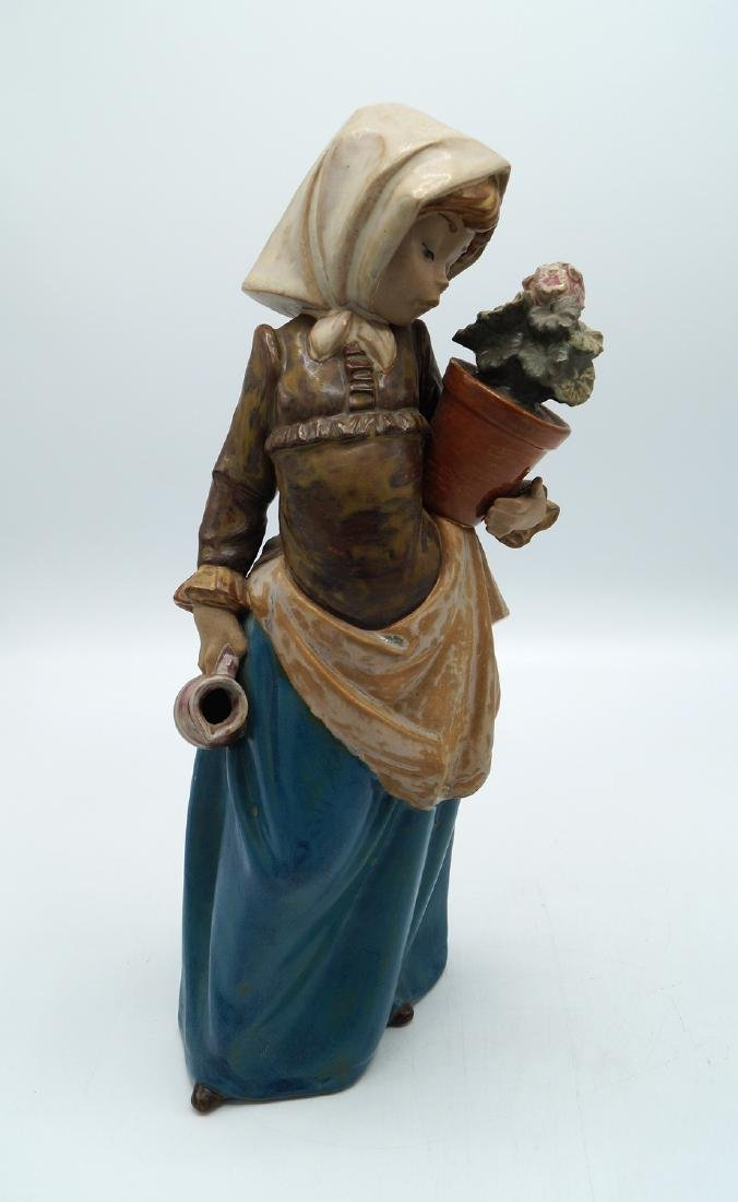 """LLADRO """"GIRL AND POTTED FLOWER"""" - 2"""