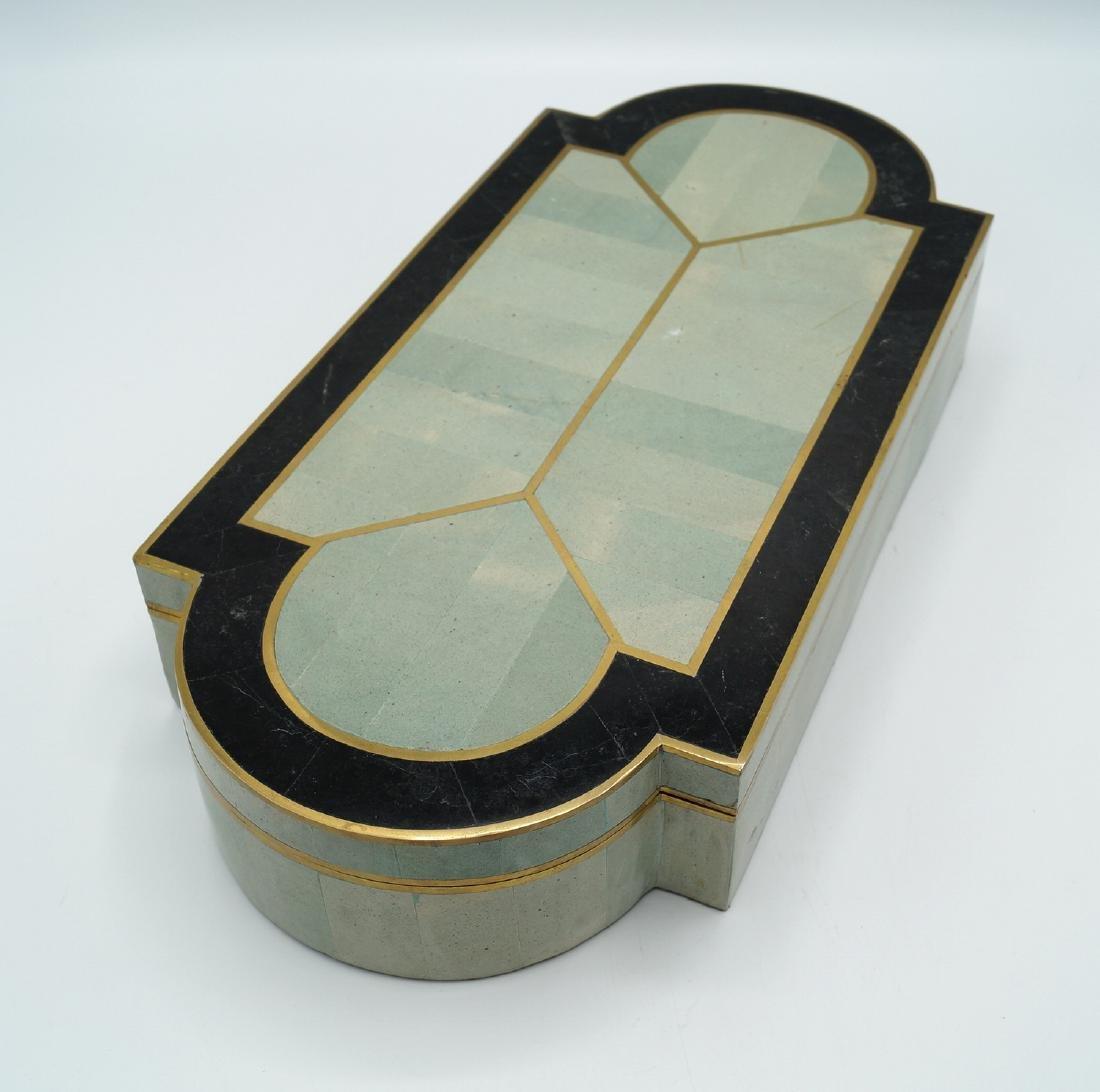 ART DECO STYLE  INLAID BOX - 5
